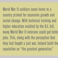 What was the impact of world War II on soldiers in the nation?