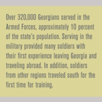 What was the impact of World War II on soldiers in the state?