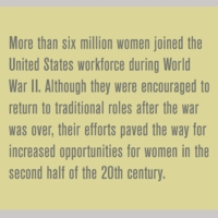 How did World War Ii change women's lives in the nation?